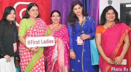 112 First Ladies felicitated by WCD Minister Maneka Gandhi