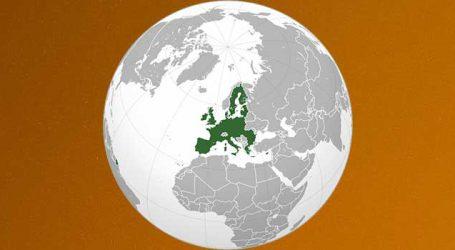 Europe 2 degrees warmer than average