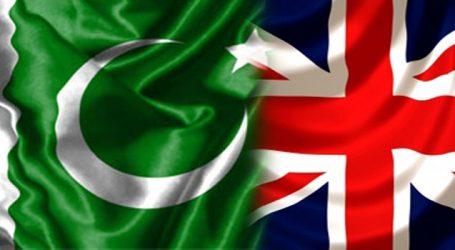 Pakistan appreciates UK's development assistance to country