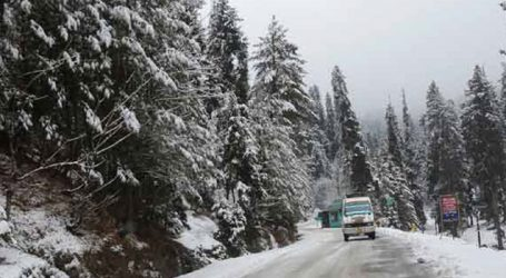 Kashmir highway closed due to snow, slippery road conditions
