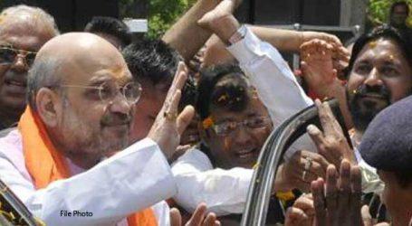 Amit Shah holds roadshow in Bengaluru rural district