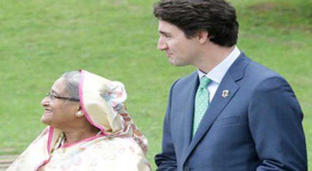 Canadian PM Trudeau appreciates Hasina's outstanding leadership