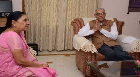 Gujarat Governor gets additional charge of MP while Anandiben goes on leave
