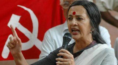 Brinda Karat counters Yogi, calls BJP 'Bharatiya Jhagda Party'