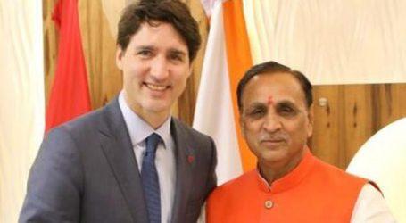 Canadian PM Justin Trudeau meets Gujarat CM Rupani