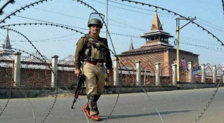 Curfew-like restrictions in SeK, downtown in Srinagar