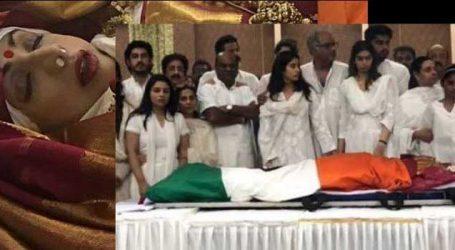 Sridevi cremated