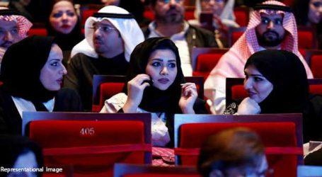 Public screening of first cinema in Saudi, it was housefull show