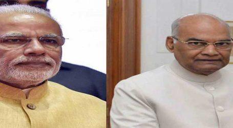 President Ram Nath Kovind and Prime Minister Narendra Modi mourn deaths in thunderstorm