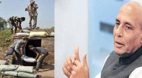 Expedite bunkers construction at LoC to protect J&K civilians: Rajnath
