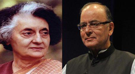 Indira's politics led to loss of sympathy of intelligentsia: Jaitley
