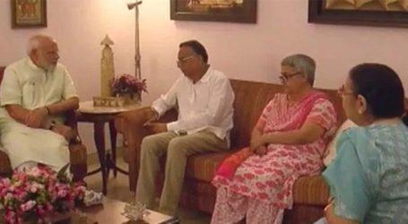 PM Modi visits Late Vajpayee's family members