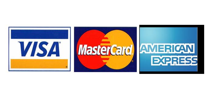 Payments majors Visa, Mastercard and American Express may be
