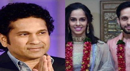 Sachin Tendulkar, others wishes to newlywed Saina Nehwal, Parupalli Kashyap