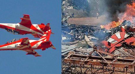 Pilot killed, 2 injured after to Surya Kiran aircraft crash at aero show rehearsal