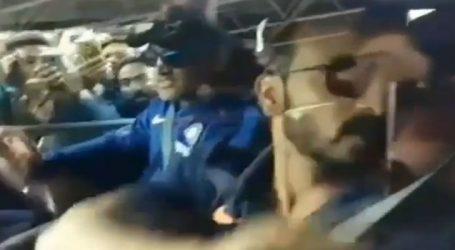 MS Dhoni takes Rishabh Pant, Kedar Jadhav for a ride on his hummer ahead of 3rd ODI against Aus